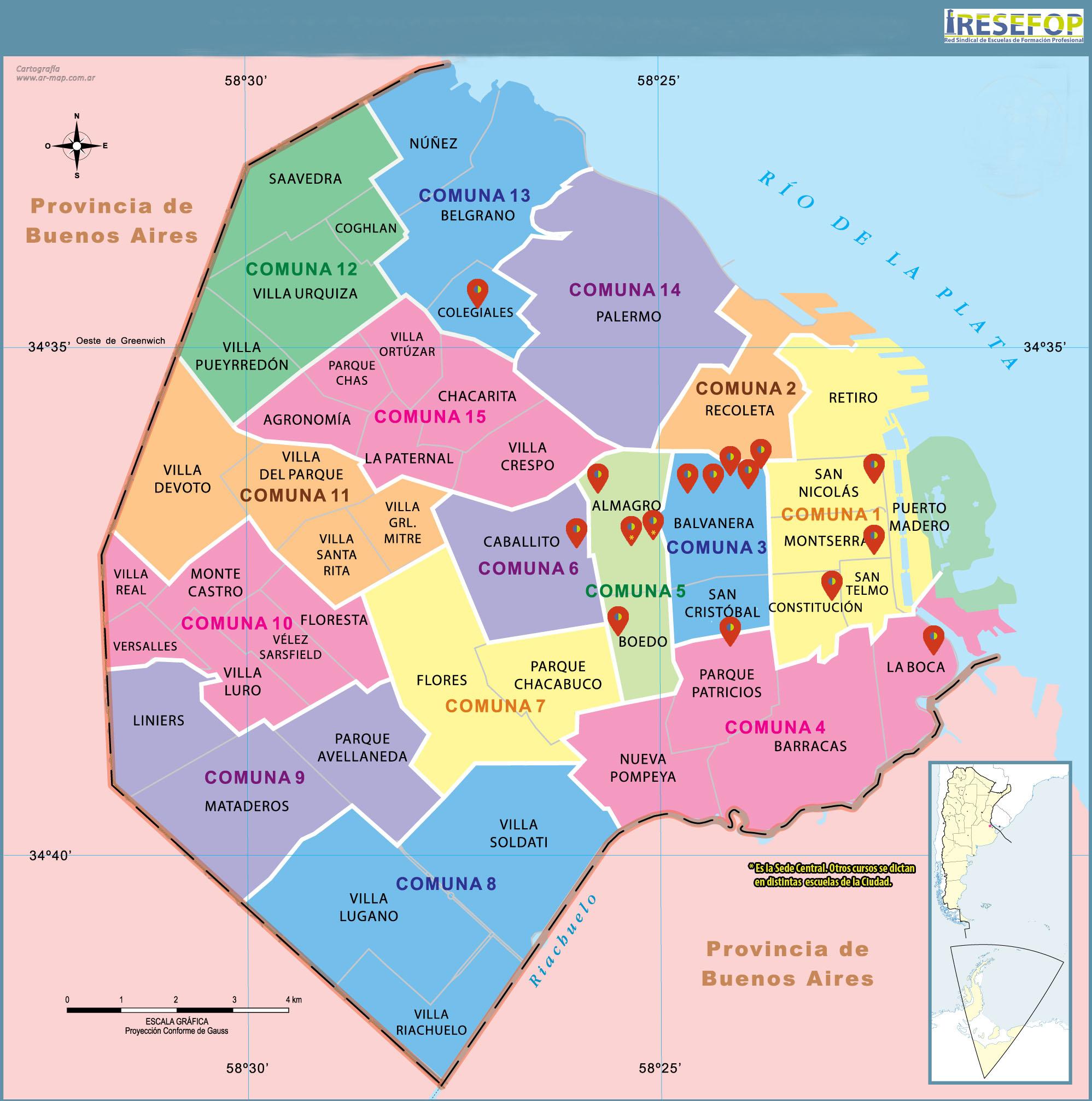 Mapa cfp resefop caba