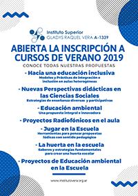 Formación docente: Cursos de verano en el Instituto Vera