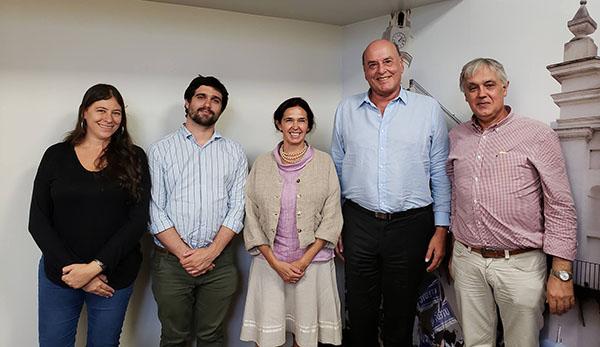 Autoridades de UTEDYC y de Sociales UBA reunidas por la realización de una Diplomatura en Gestión Sindical