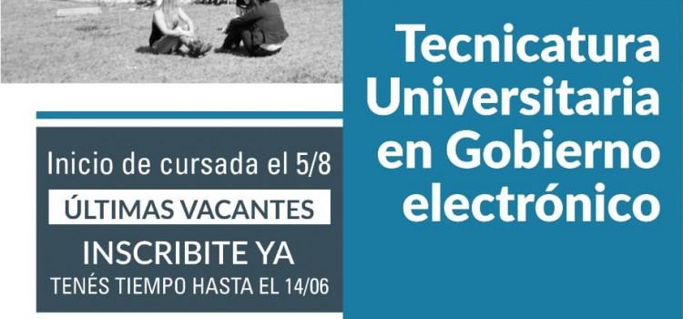 APL-UNPAZ: Últimas vacantes para la Tecnicatura en Gobierno Electrónico