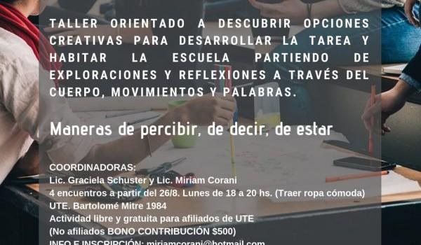 """UTE: Taller """"Herramientas para la práctica docente"""""""
