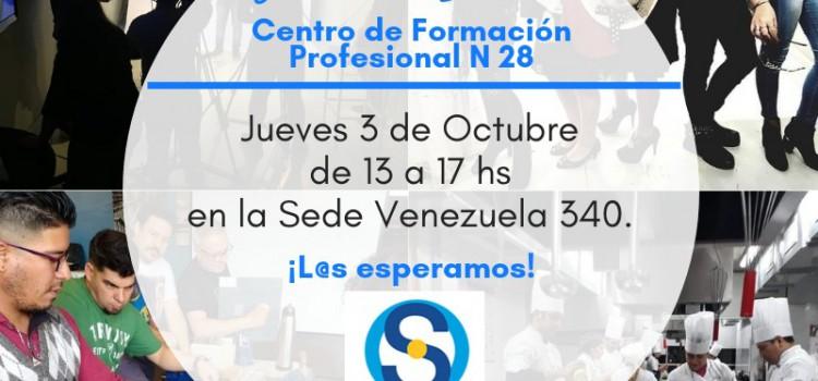 El 3 de octubre se realizará la muestra del CFP n° 28 SUTERH