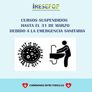 Centros RESEFOP: Cursos suspendidos por la emergencia sanitaria