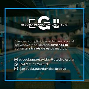 Escuela de guardavidas de UTEDYC: canales de consulta durante la cuarentena