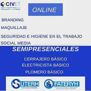 CIVET: Nuevas inscripciones para cursos online y semipresenciales