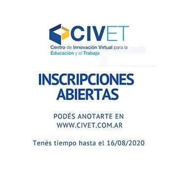 Últimos días para anotarte en los cursos de CIVET