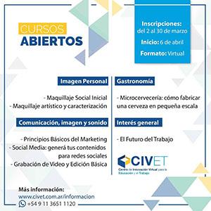CIVET: abrieron las inscripciones para los cursos de Formación Profesional