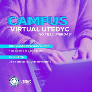 Abren las Inscripciones para los cursos virtuales de UTEDYC